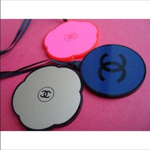 3 pc. Chanel round plastic charm